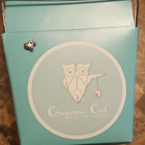 NEW IN BOX! Origami Owl heart charm- RETIRED
